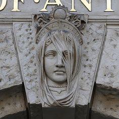 mascaron of veiled lady | Flickr - Photo Sharing!