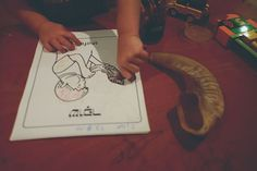 Toddler Colouring In for Rosh Hoshanah & Yom Kippur