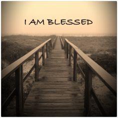 Monday Mantra: I AM BLESSED #Mindfulness #Gratitude #MindfulLiving   http://www.brainbodybeauty.com/post/monday-mantra-i-am-blessed