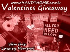 Enter this competition to win a FREE VALENTINES HAMPER! www.handyhome.co.uk