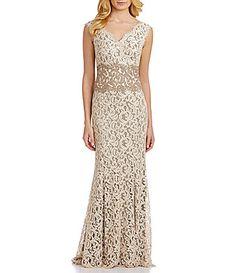 Tadashi Shoji Petite Cord Lace Gown #Dillards