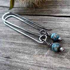 Kingman Mine Turquoise Berries - turquoise dangle turquoise earrings