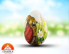 Jajko wielkanocne z Zajączkiem - pisanka malowana ręcznie