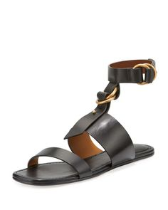 f77e8762db4e Chloe - Kingsley T-Strap Flat Sandals Chloe Sandals