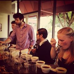 Monthly early morning coffee cupping at Cafe Demitasse @cafe_demitasse #losangeles #dtla #coffee