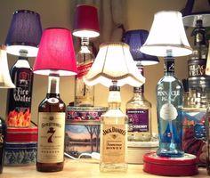 How to make a liquor bottle lamp for $10