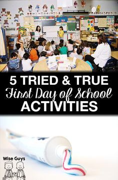 5 Tried and True Back to School First Day Activities - Wise Guys: Want to engage your students and start the new school year off strong? Here's our top five tried and true first day of school activities! First Day Of School Activities, 1st Day Of School, Beginning Of The School Year, School Games, Teaching Activities, The New School, Teaching Ideas, Back To School Ideas For Teachers, Teaching Resources