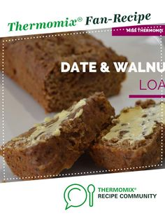 Date and Walnut Loaf by MissThermomix. A Thermomix ® recipe in the category Bak… Date Recipes, Sweet Recipes, Chocolate Weetbix Slice, Date And Walnut Loaf, Date Loaf, Thermomix Desserts, Thermomix Bread, Cinnamon Tea Cake