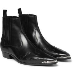 luxe-menswear:  Flame-Patterned Leather Chelsea Boots Search for more Boots by Saint Laurent on Wantering.