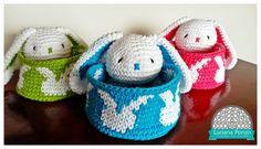 Luciana Ponzo Criações em Crochê: Receita: Coelhinho pra cesta de páscoa