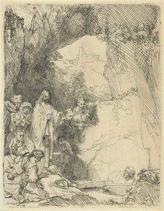 Rembrandt van Rijn, The Raising of Lazarus: Small Plate