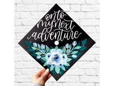 Your place to buy and sell all things handmade Custom Graduation Caps, Graduation Cap Designs, Graduation Cap Decoration, Graduation Diy, Grad Cap, Graduation Invitations, Graduation Announcements, Happy Birthday Sister, Happy Birthday Images