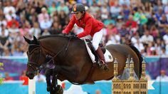 Meredith Michaels-Beerbaum of Germany riding Bella Donna competes in the Individual Jumping Equestrian on Day 12 of the London 2012 Olympic Games at Greenwich Park