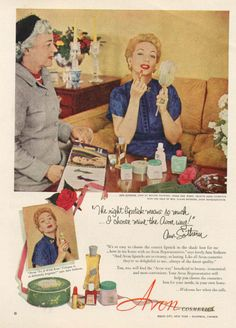 0 Ann Sothern for Avon Cosmetics ad 1952
