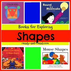 Books for Exploring Shapes (from Ready-Set-Read)