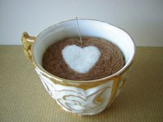Felted Teacup Pincushion