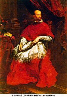 Van Dyck's earliest great masterpiece, Cardinal Bentivoglio (1622-3, Florence)