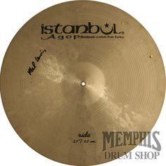 "Istanbul Agop 21"" Mel Lewis Signature Ride Cymbal with Rivets"