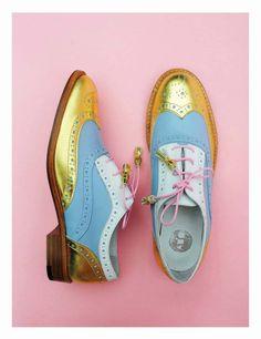 ABO shoes / designed by Iva Ljubinkovic, Belgrade Metallic Brogues, Designer Shoes, Style Me, Oxford Shoes, Oxfords, Footwear, Flats, Heels, Concept