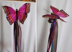DIY butterfly wedding wands!