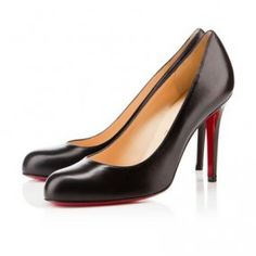 Christian Louboutin United States Official Online Boutique - SIMPLE PUMP 70 Black Leather available online. Discover more Women Shoes by Christian Louboutin Louboutin Online, Louboutin Shoes, Black Pumps Heels, High Heel Pumps, Cheap Christian Louboutin, Round Toe Pumps, Black Leather Shoes, Online Fashion Stores, Fashion Heels