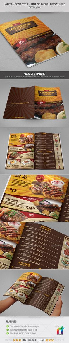 Kebab Menu Flyer - PSD Template Istanbul, Kabobs and Fonts - sample cafe menu template