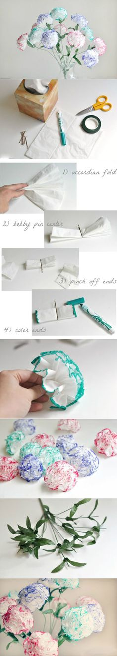 DIY Paper Flowers flowers diy crafts home made easy crafts craft idea crafts ideas diy ideas diy crafts diy idea do it yourself diy projects diy craft handmade fun crafts Cute Crafts, Crafts To Do, Craft Projects, Crafts For Kids, Easy Crafts, Homemade Crafts, Tissue Flowers, Diy Flowers, Pretty Flowers