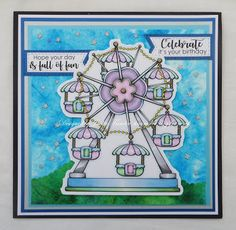 Beccy's Place - Ferris Wheel It's Your Birthday, Digital Image, Ferris Wheel, Buildings, Places, Desserts, Cards, Tailgate Desserts, Deserts