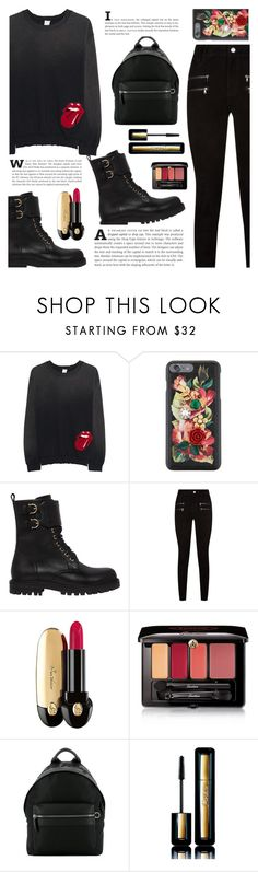 """#802"" by rasa-j ❤ liked on Polyvore featuring MadeWorn, Dolce&Gabbana, Salvatore Ferragamo, Paige Denim, Guerlain, denim, womensFashion and Salvatore"
