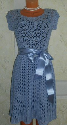 crochet dress ~~ inspiration only Crochet Skirts, Crochet Clothes, Knit Crochet, Crochet Books, Crochet Stitch, Prom Dress Shopping, Crochet Woman, Crochet Fashion, Dress Patterns