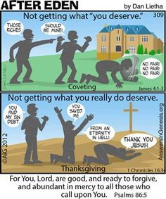 After Eden: What You Deserve Christian Comics, Christian Cartoons, Funny Christian Memes, Christian Humor, Christian Quotes, Christian Kids, Jesus Cartoon, Bible Humor, Religious Humor