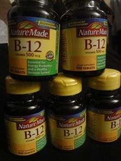Nature Made B12 Vitamins 500MCG 500 Tablets Energy Nervous System List No 1290 | eBay