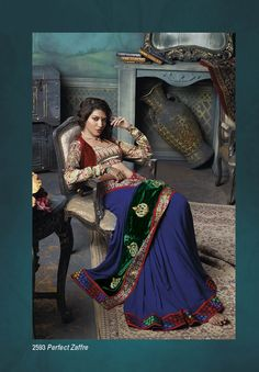 Look Unique in this Pefect Zaffre Party wear Georgette saree with velvet border & fancy patch work Product Code: Price: Laxmipati Sarees, Lehenga Saree, Saree Dress, Georgette Sarees, Party Wear Sarees, Saris, Saree Shopping, Shopping Mall, Online Shopping