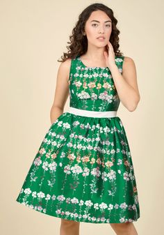 Floral Fanfare Fit and Flare Dress