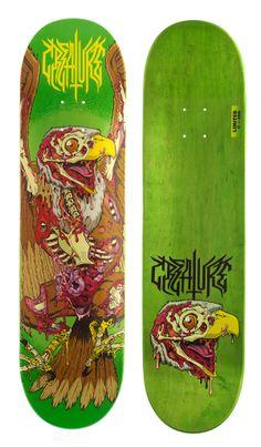 Creature Skateboards: Atomic Bummer by James Callahan, via Behance