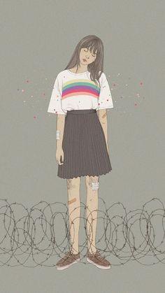 anime and anime girl image Tmblr Girl, Cover Wattpad, Art Anime, Aesthetic Art, Couple Aesthetic, Cartoon Art, Cute Wallpapers, Cute Art, Art Inspo