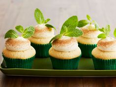 Mint Julep Cupcakes : If downing a cupcake sounds like a lot more fun than knocking back a drink, we hear you. With a vanilla-bourbon batter and a minty bourbon frosting, these winning cupcakes come with all the flavor (and a fraction of the buzz) of the classic drink. For an extra punch of bourbon, brush some on the tops of the freshly baked cupcakes.