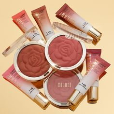 Cheek Kiss, Milani Cosmetics, Makeup Collection, Photo And Video, Blushes, Beauty Products, Powder, Shades, Rose