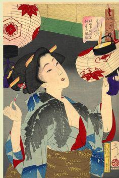"Looking Capable -- Yoshitoshi ""32 Aspects of Women,"" 1888"