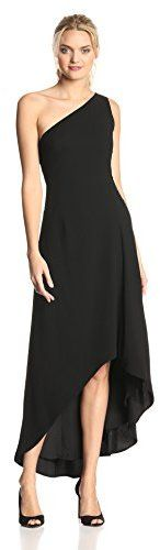 $545, Heritage Crepe One Shoulder Midi Evening Gown by Halston. Sold by Amazon.com. Click for more info: http://lookastic.com/women/shop_items/133503/redirect