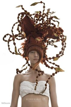 Inspired by the Gods: Maria Dretaki got her inspiration by the Greek mythology and created a unique and magnificent hair collection! In this photo: Medusa... see all photos at: http://www.haircut.gr/newhc3/viewarticle.asp?a=593