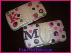 Monogrammed Baby travel wipe case by Hughesjc702 on Etsy, $5.95