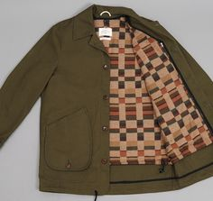 A Kind of Guise Khaki Jacket Computer Chess, Khaki Jacket, Walk In The Woods, Gq, Military Jacket, Menswear, Fabric, Jackets, Clothes