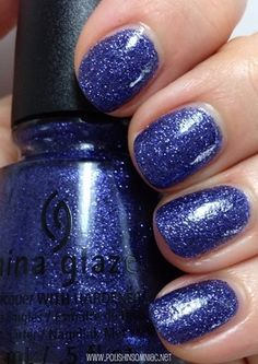 China Glaze Happy HoliGlaze All Wrapped Up is a blue microglitter than leans purple, with some grey mixed in.