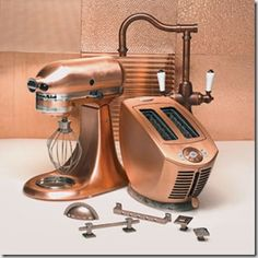 I have the toaster, and want the expensive mixer. Plus I have copper draw pulls. Black appliances and copper accents in my kitchen.