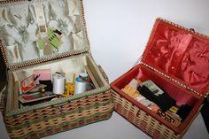 vintage sewing basket - Google Search