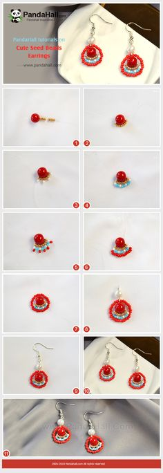 Depending on the size and the design of the locket it can dress up a casual attire of denims or a sweater or it can be the completing touch to a classy gown. Simple Bracelets, Seed Bead Bracelets, Seed Bead Earrings, Simple Earrings, Beaded Earrings, Earrings Handmade, Seed Beads, Handmade Jewelry, Jewelry Making Tutorials
