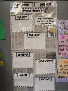 Very cute! We do a newspaper article to summarize The Whipping Boy...I may try this as a graphic organizer before writing. I just like the newspaper background.
