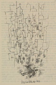 'La muerte de la Idea', litografía de Paul Klee (1879-1940, Switzerland)