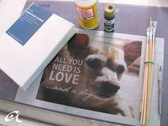 DIY: Photo canvas- going to attempt this... wish me luck.